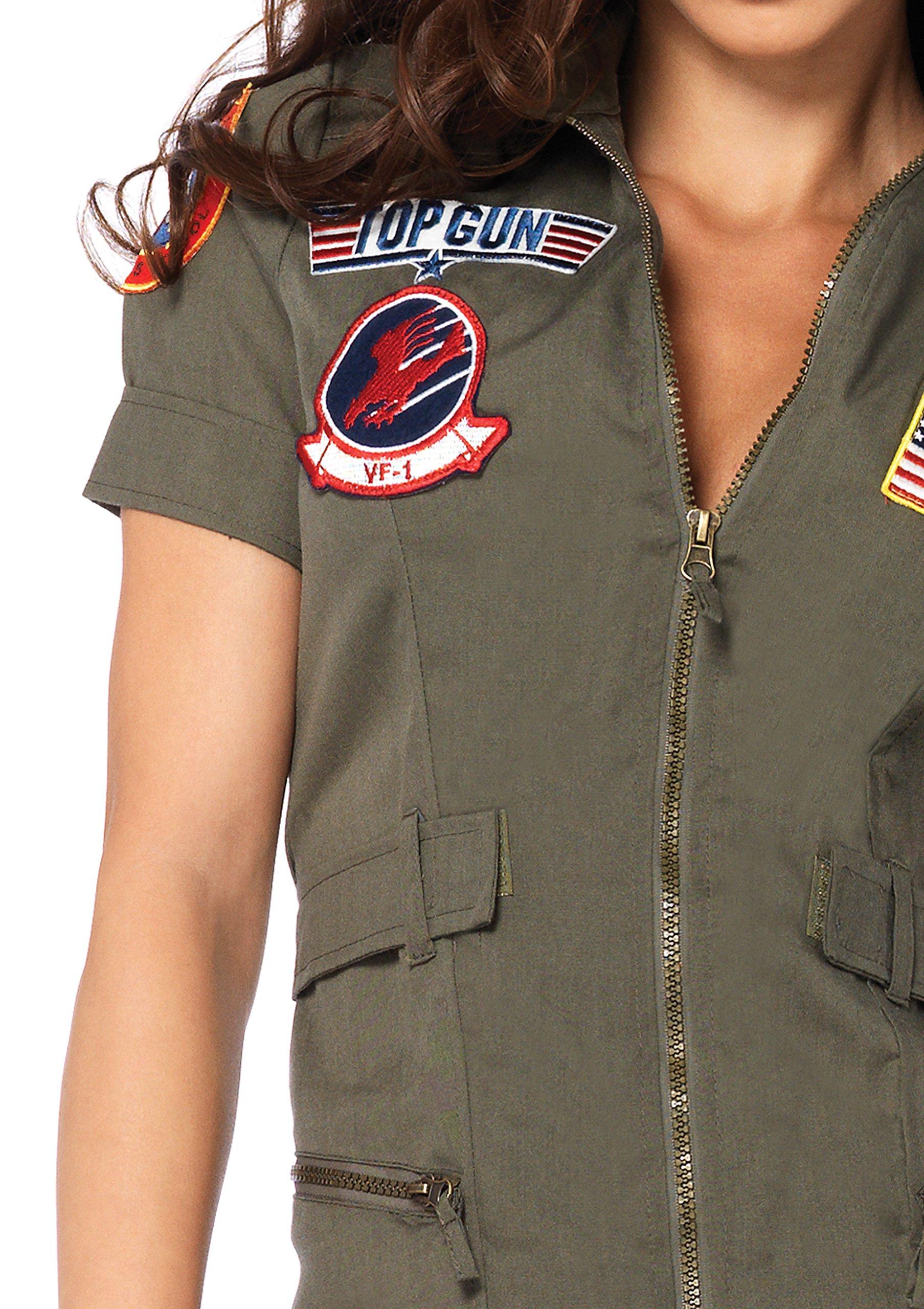Leg Avenue Women S Top Gun Flight Zipper Front Dress Costume Deal