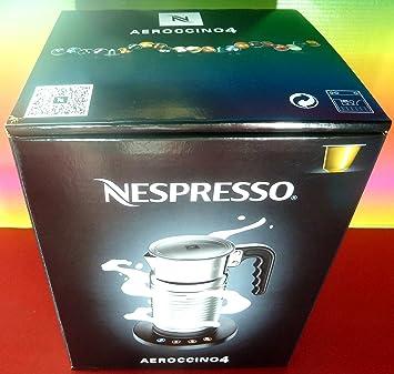 Nespresso Aeroccino4 New Model 4192-GB Milk Frother ,Silver , 220-240V ,Hot & Cold ,For Cappuccino & Latte,AEROCCINO , BRAND New