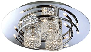 Firstlight 10 Watt/ 11 x 12 V Titan Flush Fitting Chrome with Moulded Clear Glass Capsule       Customer reviews and more information
