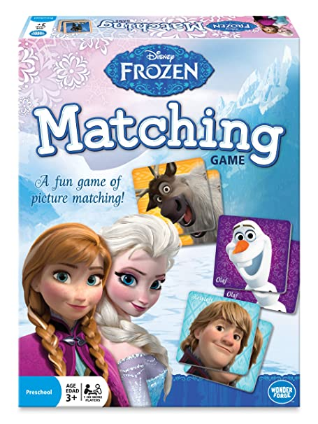 The Wonder Forge Disney Frozen Matching Game, Multi Color low price