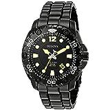 Bulova Men's 'Sea King' Quartz Stainless Steel Casual Watch, Color:Black (Model: 98B242) (Color: Black)