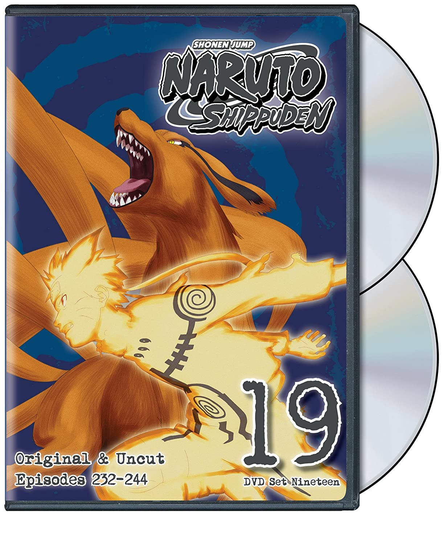 NARUTO SHIPPUDEN DVD SET 19 NEW SEALED R1 DVD SHONEN JUMP
