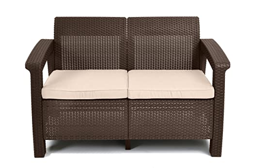 Available as part of a matching outdoor set, this loveseat adds additional  living space to your outdoor area and is made of durable, rust-proof,  all-weather ... - The 50 Best Patio Furniture Sets & Pieces Of 2019 - Family Living Today