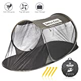 Dimples Excel Single Instant Pop Up Mosquito Net Automatic Self-expanding Tent for Outdoor, Beach, Hiking, Traveling, Backyard, Backpacking (Automatic tent - army green) (Color: Automatic tent - army green)