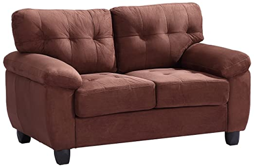 Glory Furniture G902A-L Living Room Love Seat, Chocolate