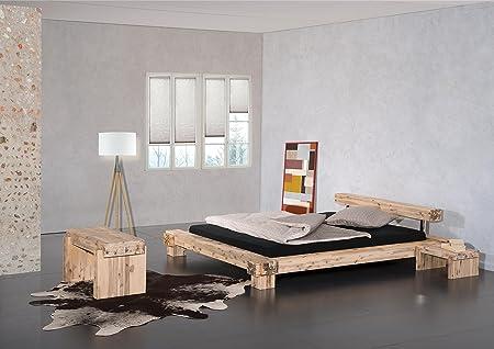 Bett Lota, Akazie massiv, weiss lasiert, 160 x 200 cm