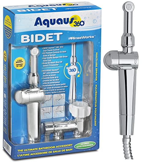 Aquaus 360 Premium Handheld / Hand Held Bidet for Toilet - Made in the USA - NSF Certified - 3 Year Warranty