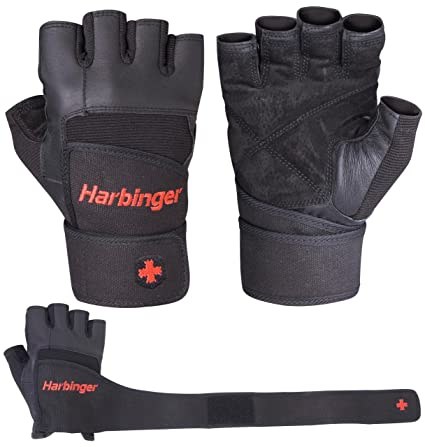Harbinger 140 Pro WristWrap Glove (Black) : Exercise Gloves : Sports & Outdoors