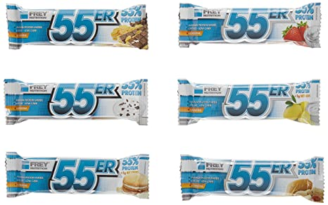 Frey Nutrition 55er Proteinriegel 20 x 50 g Mix-Box, 1er Pack (1 x 1 kg)