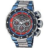 Invicta Men's 'Marvel' Quartz Stainless Steel Fashion Watch, Color:Grey (Model: 26005) (Color: Multi Color, Tamaño: 52mm)