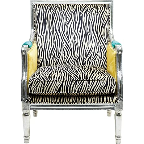 KARE Design Regency Zebra Arm Chair, Fabric, Multi-Colour