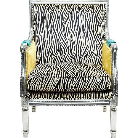 Kare design–Fauteuil regency Zebra Bras de, tissu, multicolore