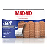 Band-Aid Brand Tough-Strips  Adhesive Bandages, Durable Protection for Minor Cuts and Scrapes, 60 Count