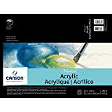 Canson Artist Series Montval Acrylic Pad, Sized Heavyweight No-Buckle Paper, Fold Over, 185 Pound, 12 x 16 Inch, 10 Sheets (Color: 0, Tamaño: 12