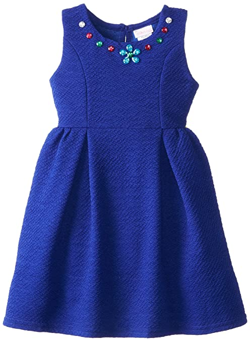 Youngland-Little-Girls-Textured-Knit-Fashion-Dress-with-Jewels