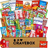 CraveBox - Care Package (40 Count) Snack Box - Variety Assortment Bundle of Snacks, Candy, Chips, Chocolate, Cookies, Granola Bars, for Students, Office, Midterms, Spring Final Exams, Easter Sunday (Tamaño: 40 Pack)
