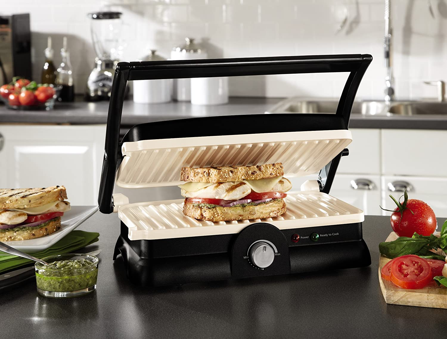 electric grill sandwich panini maker griddle warmer. Black Bedroom Furniture Sets. Home Design Ideas