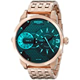 Diesel Men's DZ7336 Mini Daddy Analog Display Analog Quartz Rose Gold Watch
