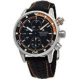 Maurice Lacroix Pontos S Extreme Diver Chronograph Mens Watches - 43mm Black Dial Black Leather Band Swiss Automatic Dive Watch For Men PT6028-ALB31-331-1 (Color: black)
