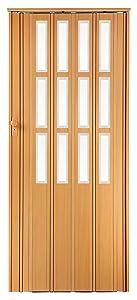 Falttür Schiebetür buche farben mit Schloß  Schlüssel und Fenster H. 203 cm B. 85 cm Doppelwandprofil Neu  BaumarktKritiken und weitere Informationen