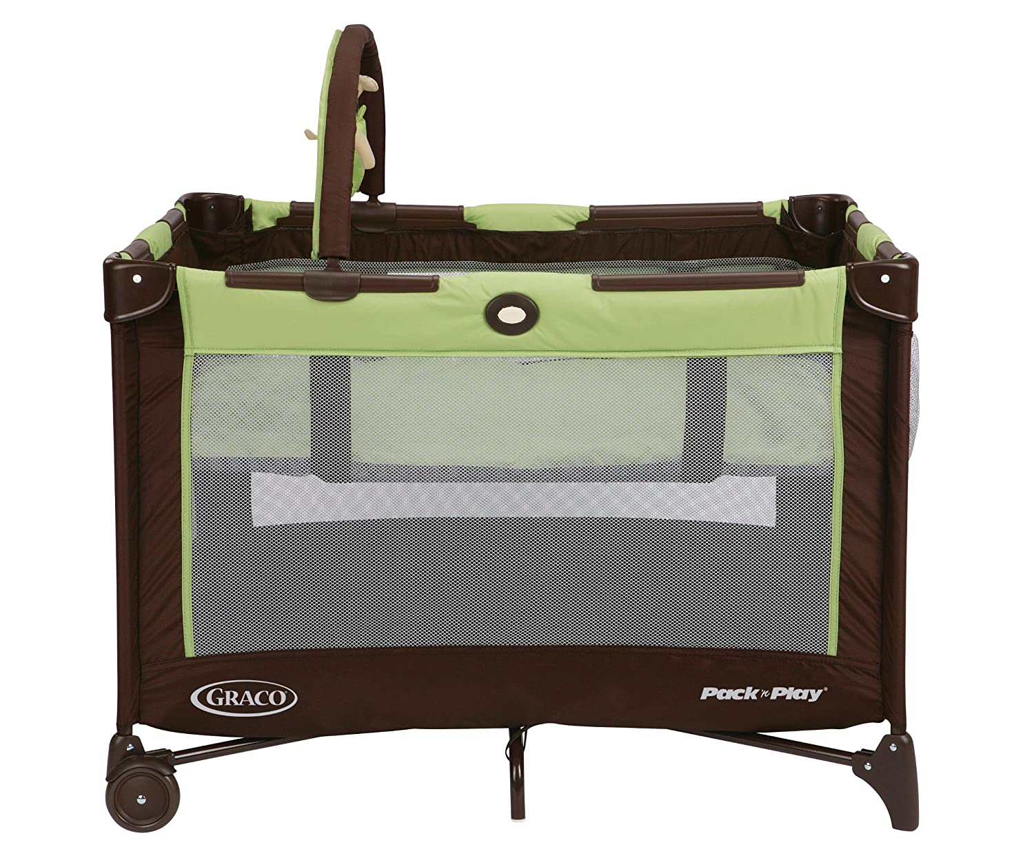 Graco toddler playard portable beds baby pack play infant bassinet folding green ebay - Futon portatil ...