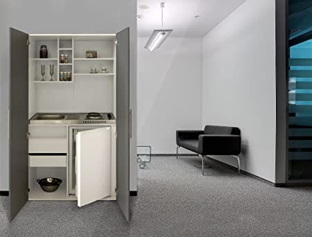 Single Office Pantry Ceramic respekta SKW Kitchenette / Kitchen Kitchenette / Grey