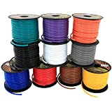 16 Gauge Primary Remote Wire 4 Color Combo   100 ft/color 400ft total (3 in Product Family: 4, 6 & 10 Color Combo) (Color: Red, Black, Blue, Yellow, Tamaño: 400 ft)