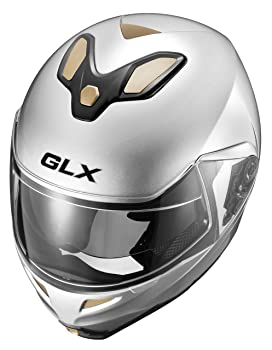 GLX Modular Helmet with Sun Shield Silver