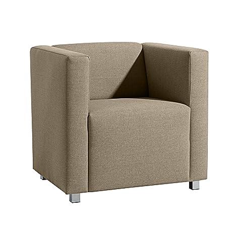 Max Winzer 25392-1100-1645253 kubischer-/Lounge Sessel Corrado, Leinenoptik, sahara