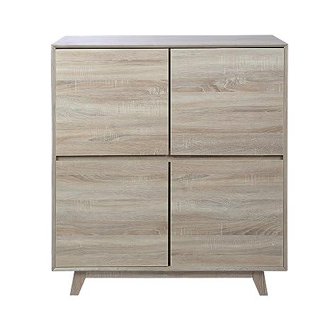 Premier Housewares Loki Cabinet - Natural Oak Veneer