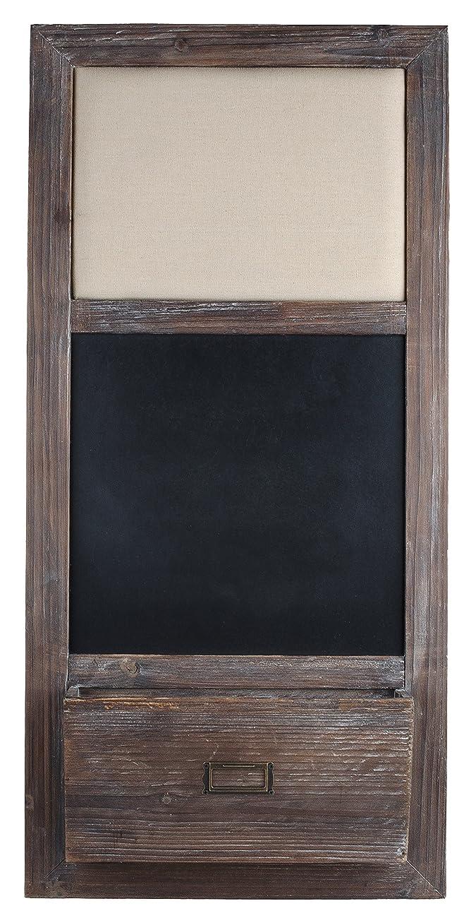 Dwellbee Rustic Shabby Chic Memo Bulletin Board, Chalkboard, & Organizer 1
