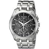 T0356171105100 Tissot Men's Quartz Stainless Steel Link Bracelet Watch (Color: Black)