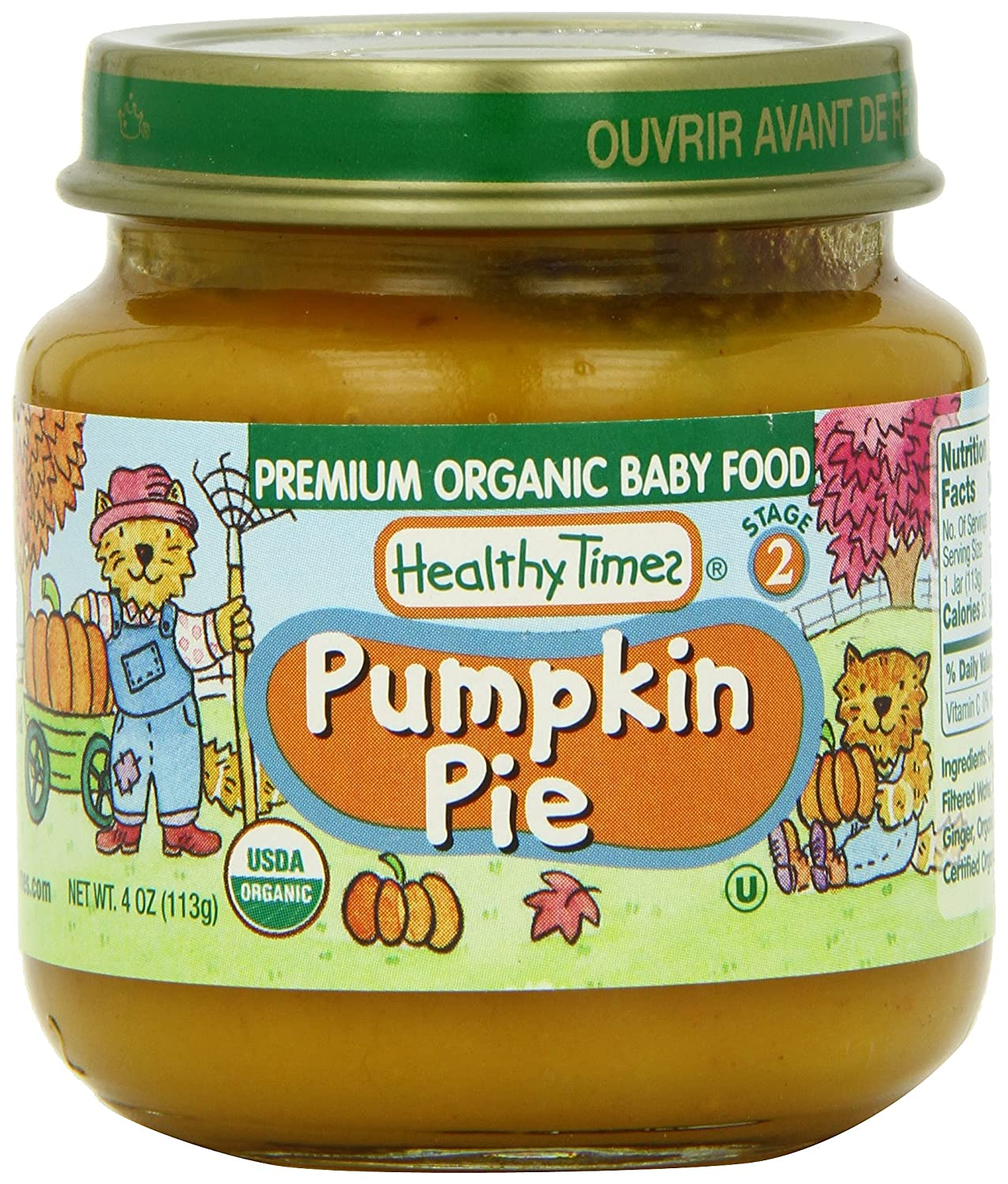 Thanksgiving baby food: Healthy Times pumpkin pie