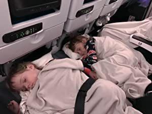 Inflatable Travel Foot Rest Pillow | Kids Airplane Bed | 2-Pack Available | Adjustable Height Leg Pillow | Make a Flat Bed for Kids and Toddlers | Gre