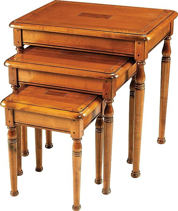 Tavolini ciliegio massiccio piedi Girati