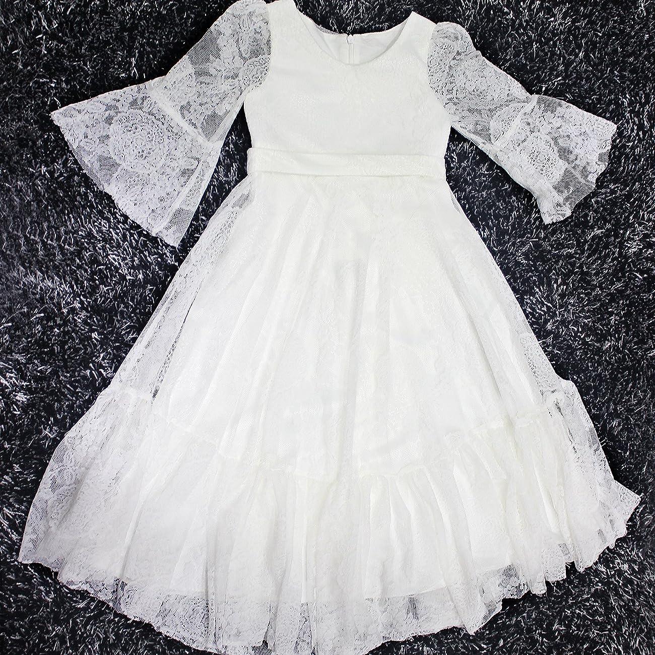 Fancy A-line Lace Flower Girl Dress 2-12 Year Old 3
