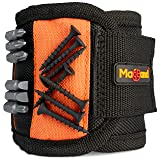Magnetic Wristband, Super Strong Magnets Holds Screws, Nails, Drill Bits, A Black DIY Magnet Wristband, A Unique And Cool Gift Item For - Men/Women, Dad, Guys, Husband, Boyfriend, Him and Birthdays. (Color: Black and Orange, Tamaño: 1 Pack)