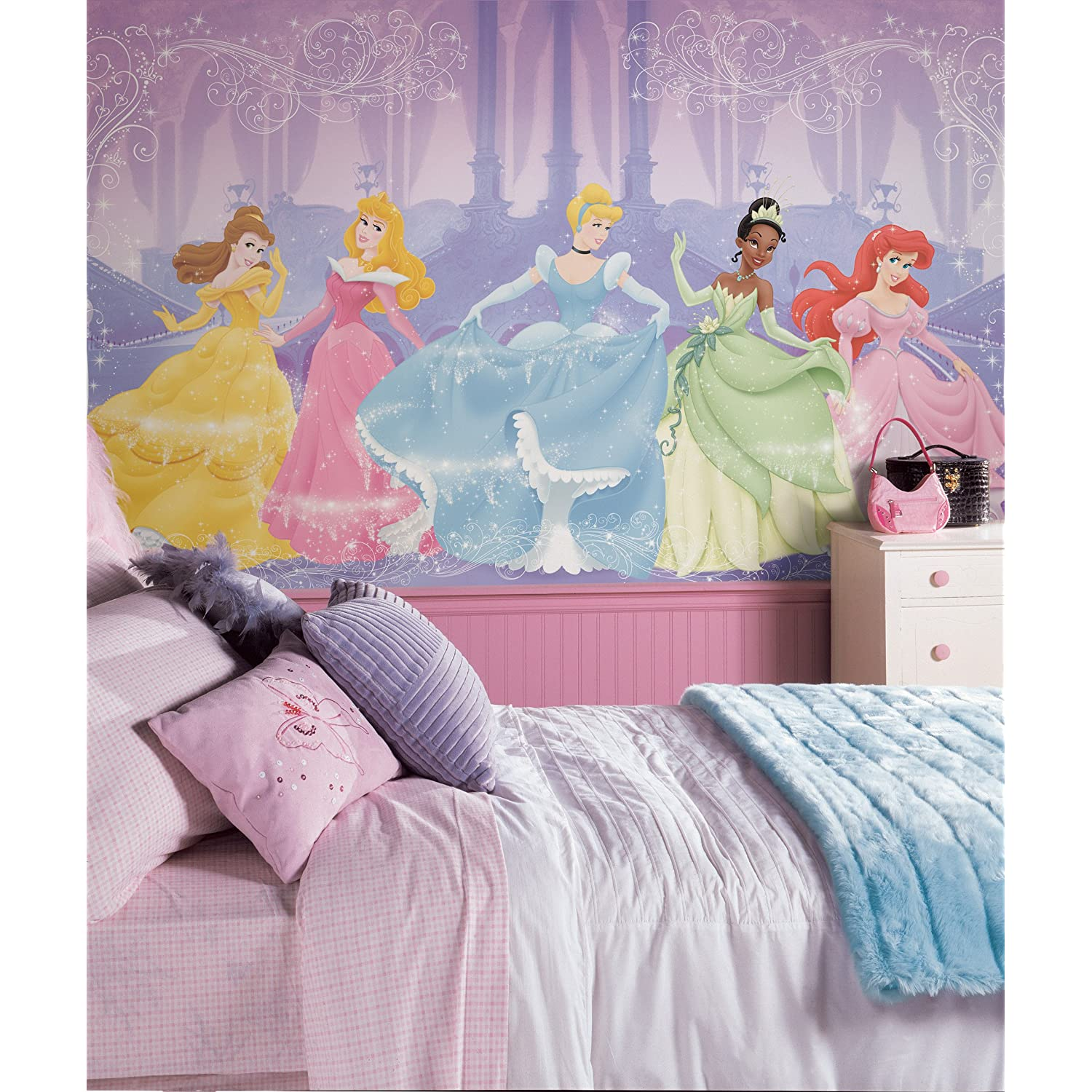 Disney princess wall decals for Disney princess wall mural stickers
