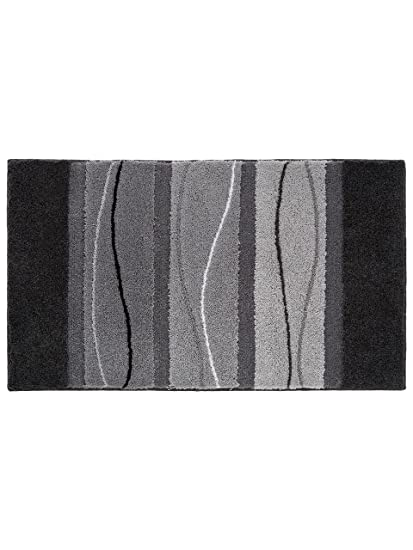 Grund tapis salle de de bain orly pas cher gris 70x120 70x120 cm cuisine - Tapis de salle de bain pas cher ...