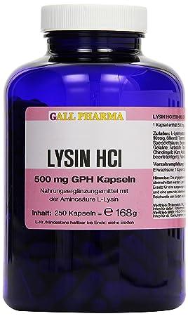 Gall Pharma Lysin HCl 500 mg GPH Kapseln, 1er Pack (1 x 168 g)