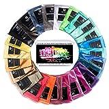 Epoxy Resin Dye - TECHAROOZ Mica Powder Set - 25 Colours [Huge 250g/8.82oz] 2 Tone Metallic Powders Resin Pigment Powder, Acrylic Paint, Soap Making, Bath Bombs, Slime, Eye Shadow, Lip Gloss Non Toxic
