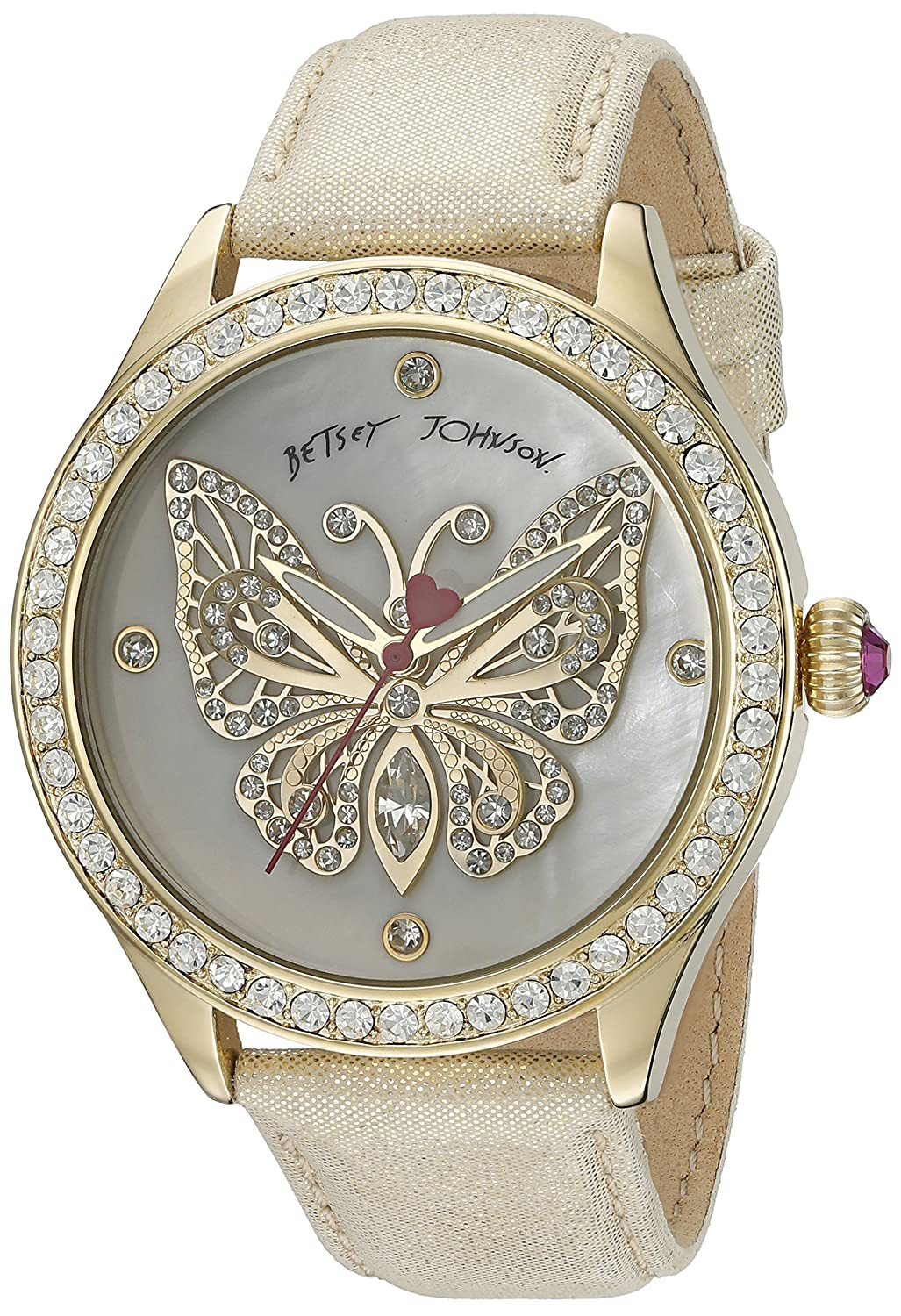 Betsey Johnson Women's BJ00517-11 Analog Display Quartz Gold Watch
