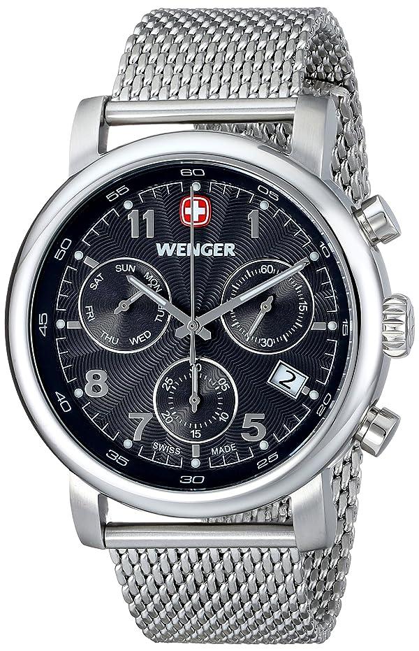 Wenger Men's 01.1043.102 Urban Classic Silver-Tone Chrono Watch with Mesh Bracelet
