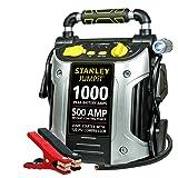 STANLEY J5C09 Jump Starter: 1000 Peak/500 Instant Amps, 120 PSI Air Compressor