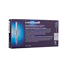 Uni-Ball Vision Stick Rollerball Pens, Fine Point, Purple/Violet Ink, Pack of 12 (60382)