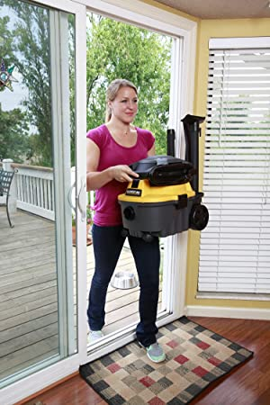 Workshop Wet Dry Blower Vac WS0400DE Portable Wet Dry Vacuum Cleaner & Blower, 4 gallon Leaf Blower Vacuum Cleaner, 6.0 Peak Hp Small Shop Vacuum & Blower (Color: Gray)