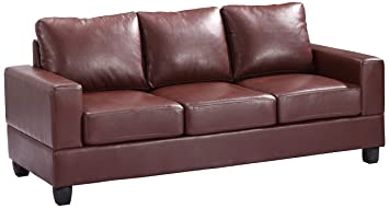 Glory Furniture G300A-S Living Room Sofa, Brown