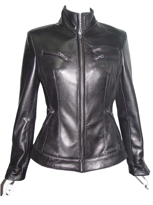 Nettailor WoHerren 4199 weich Leder neu l?ssig Motorradfahrer JackeRei?verschluss Front jetzt bestellen