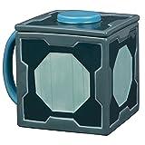 Rick and Morty Mr. Meeseeks Ceramic Coffee Mug with Lid - Box O Fun with Hidden Meeseeks Inside - 20 oz (Color: Green. Blue)
