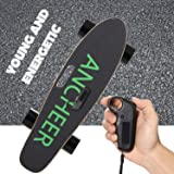 ANCHEER E200 Electric Skateboard, 350w Hub-Motor Wireless Remote Controlled E-skateboard, Portable Cruiser Skate Board for Riders, Kids and Adults (Color: black)